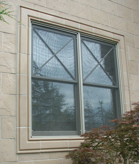 Molding #2 (MLD218S, MLD2C) window surround, no sill detail.